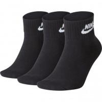 Nike Sportswear Everyday Essential Ankle 3P - black/white