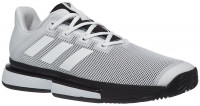 Teniso batai vyrams Adidas SoleMatch Bounce M - cloud white/cloud white/core black