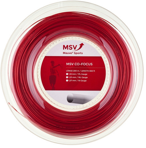 Tennis String MSV Co. Focus (200 m) - red