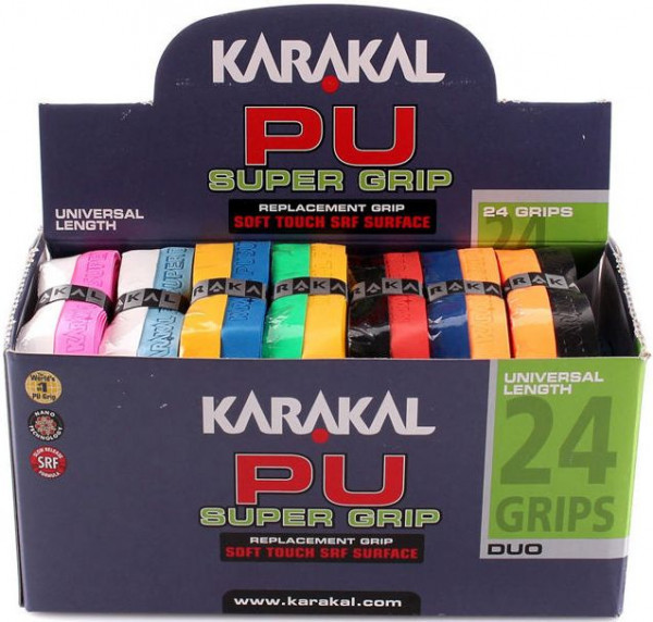 Grip - replacement Karakal PU Super Grip Duo (1 szt.) - black/orange