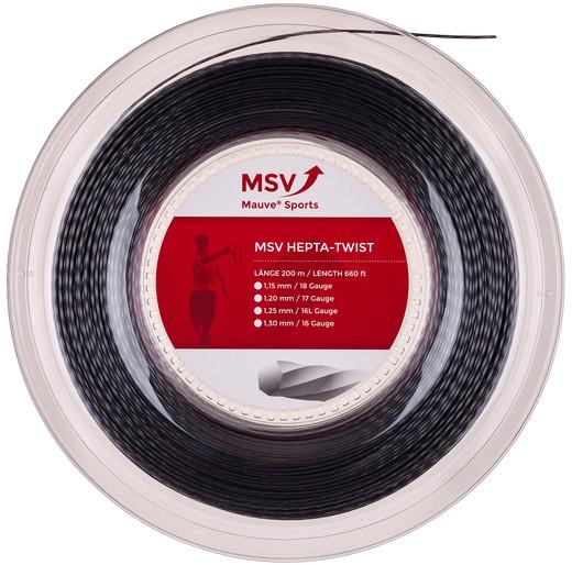 Tenisa stīgas MSV Hepta Twist (200 m) - anthracite