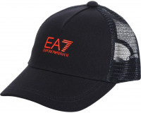 EA7 Unisex Woven Baseball Hat - night blue/orange
