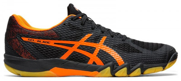 Squash shoes Asics Gel Blade 7 blackshocking orange