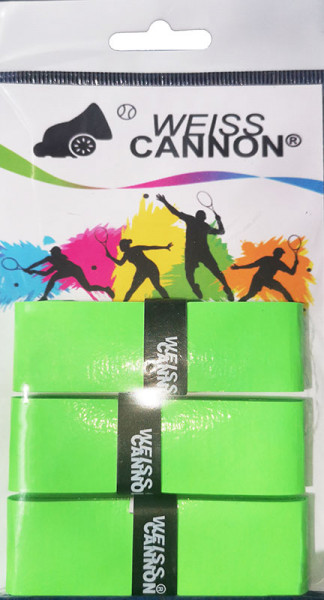 Owijki tenisowe Weiss Cannon Overgrip 4 (3 szt.) - green