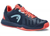 Damskie buty tenisowe Head Sprint Team 3.0 2021 Clay Women - dressblue/coral