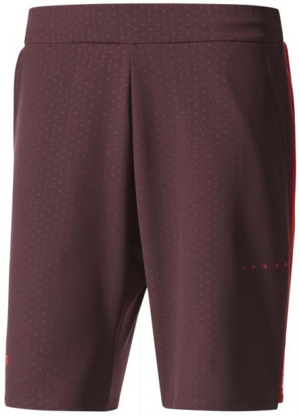 Męskie spodenki tenisowe Adidas Barricade Woven Short - dark burgundy/scarlet