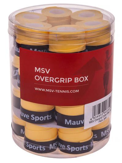 Owijki tenisowe MSV Cyber Wet Overgrip (24 szt.) - yellow