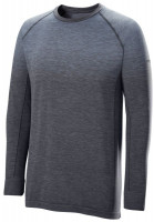 Męski T-Shirt tenisowy Wilson M F2 Seamless LS - flint stone/ebony