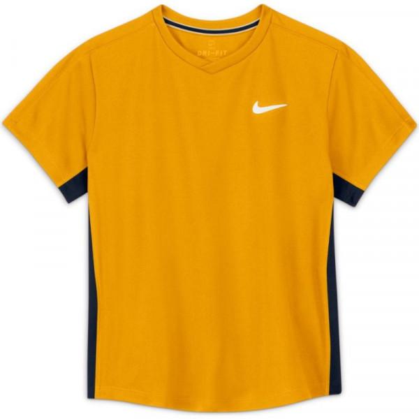 Poiste maika Nike Court Dri-Fit Victory SS Top B - university gold/obsidian/white