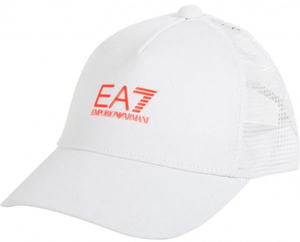 Teniso kepurė EA7 Unisex Woven Baseball Hat - white/orange