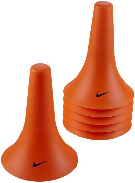 Cones Nike Pylon Cones (6 szt.) - total orange/black