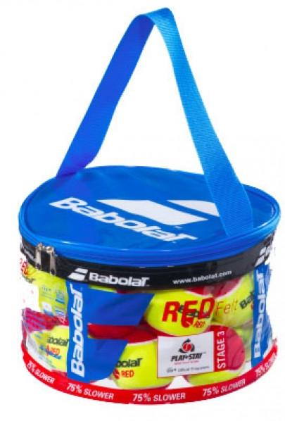 Tenisa bumbiņas bērniem Babolat Red Felt Bag 24B