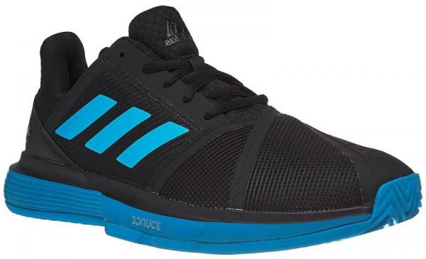 Adidas CourtJam Bounce M Clay core blackshock cyanwhite