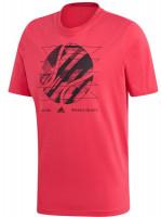 Teniso marškinėliai vyrams Adidas M SS US Open1 - power pink