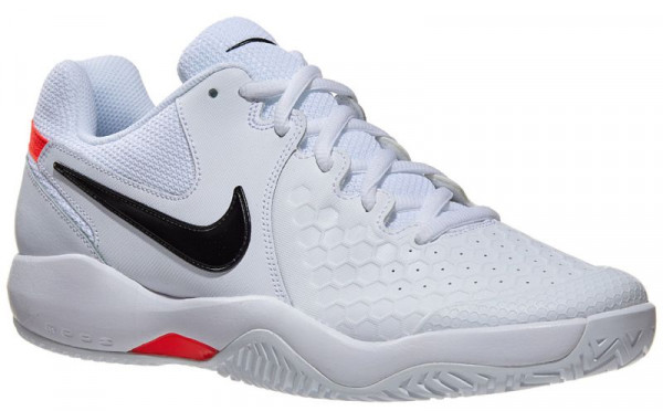 Męskie buty tenisowe Nike Air Zoom Resistance - white/black/bright crimson