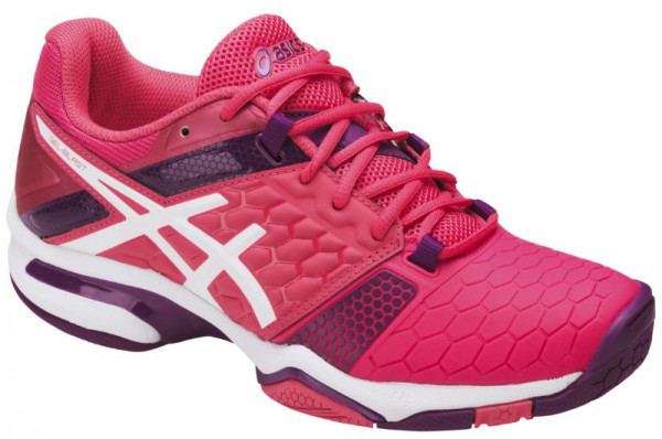 Women's squash shoes Asics Gel-Blast 7 - rouge red/white/prune
