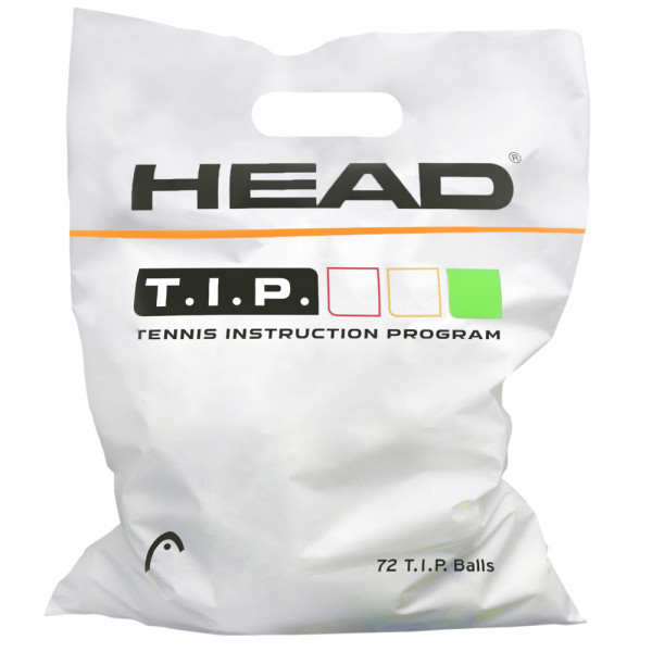 Juunioride tennisepallid Head T.I.P. Green Polybag 72B