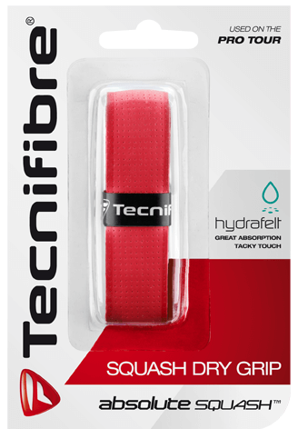 Grip - replacement Tecnifibre Absolute Squash Perforated (1 szt.) - red