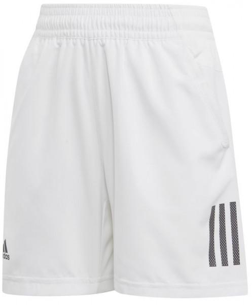 Spodenki chłopięce Adidas Boys Club 3 Stripes Short - white/black