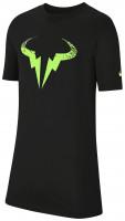 Koszulka chłopięca Nike Court B Rafa Tee DB - black/volt