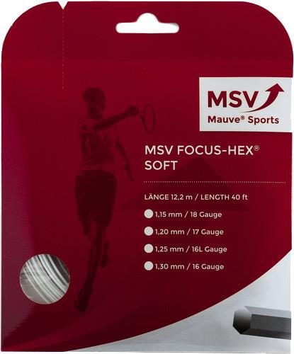 Tennisekeeled MSV Focus Hex Soft (12 m) - white