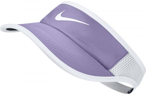 Nike Aerobill Feather Light Visor - hydrangeas/white/black
