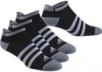 Skarpety tenisowe Adidas Clima ID no-show thin cushioned - 3 pary/black/black/black