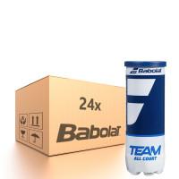 Karton piłek tenisowych Babolat Team All Court - 24 x 3B
